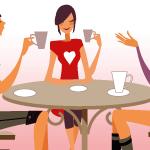 クラウドワークスではクライアントコミュミケーションを大切にという記事のイメージで3人の女性が会話をしている画像。
